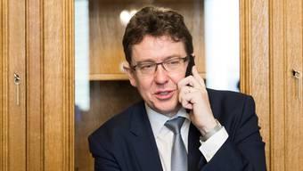 Schlechte Nachrichten für SVP-Parteipräsident Albert Rösti.  Peter Klaunzer/Keystone