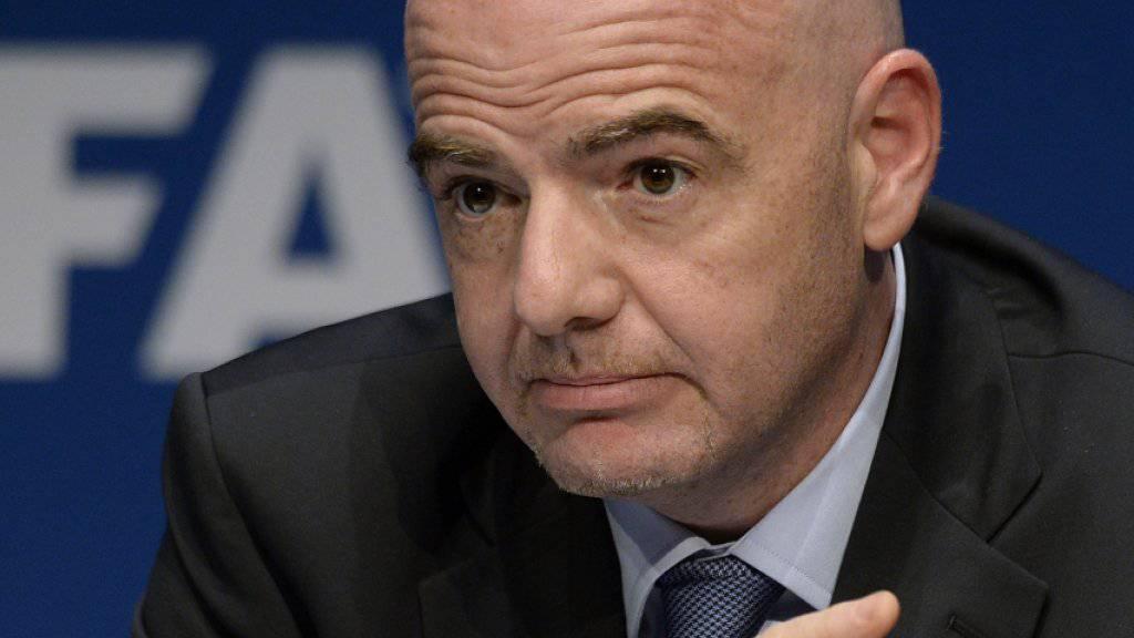 Das Schicksal von FIFA-Präsident Gianni Infantino hängt an einem seidenen Faden