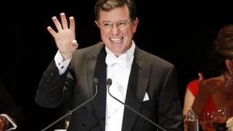"""Stephen Colbert debütiert in der """"Late Show"""" mit George Clooney (Archiv)."""