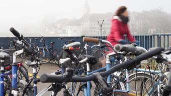 Fahrräder Velos Veloständer Wildparkierte Olten Bahnhof