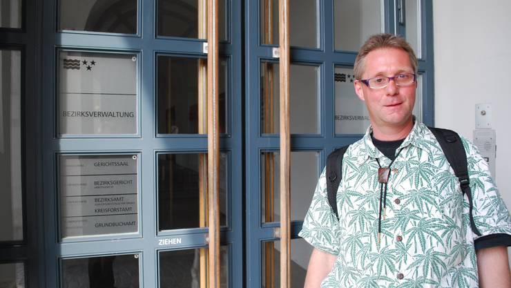Ständeratskandidat Pius Lischer. Eddy Schambron