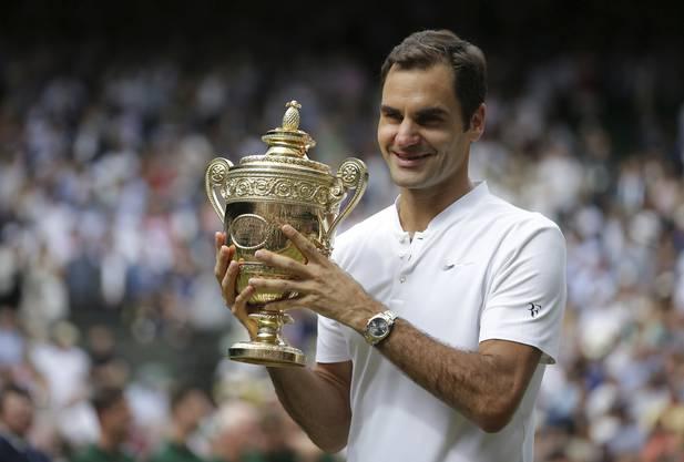 Der Final gegen Marin Cilic war sein 102. Spiel auf dem heiligen Rasen von Wimbledon - damit hat er die Bestmarke von Jimmy Connors egalisiert.