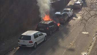 BMW gerät in Brand.