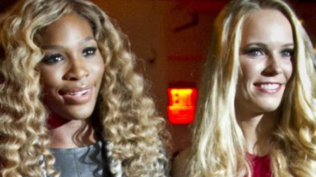 Serena Williams und Caroline Wozniacki auf der Fashion Week