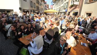 Handörgeli, Hackbrett und Alphörner: In Aarau ist in den nächsten Tagen traditionelle Schweizer Musik angesagt. Bis zu 100`000 Besucher werden erwartet.