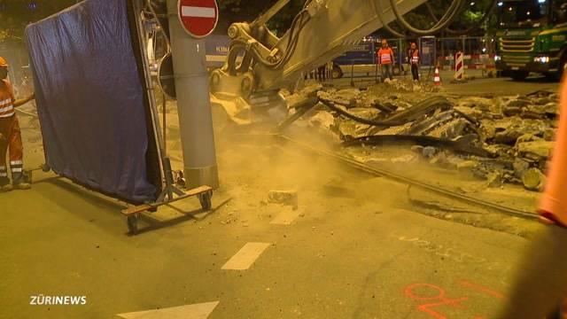 Bellevue wegen Baustelle gesperrt