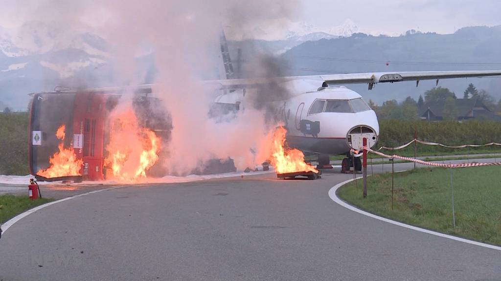 Flugplatz Belp: Riesige Notfallübung trotz wenig Flugverkehr