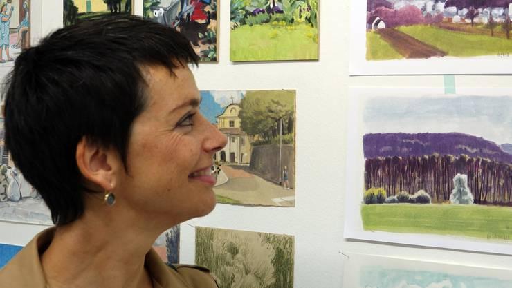 Unter dem Motto «Die Welt zeigen, Zeichnung für Zeichnung» stellt Olivia Aloisi mit zwei anderen Urban Sketchers ihre Werke vor.