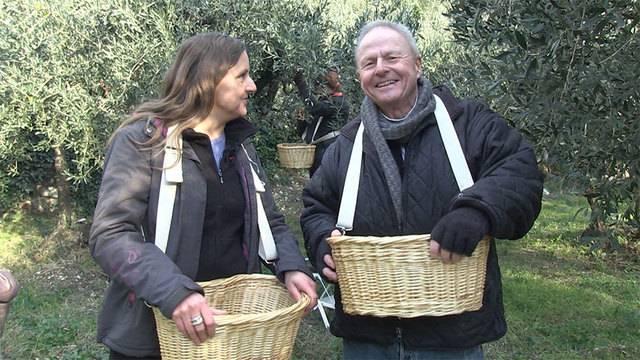 Renaud Tour mit einem Olivenbauer