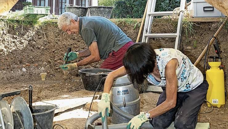 Freiwillige lernten während dreier Wochen das Grabungshandwerk.