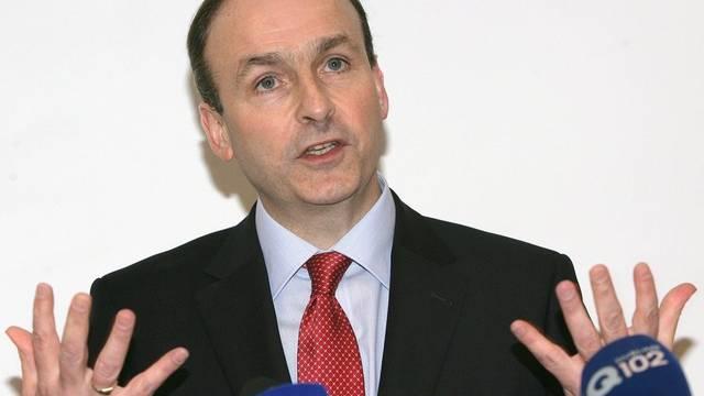 Micheal Martin führt die Fianna-Fail-Partei in die Wahl (Archiv)