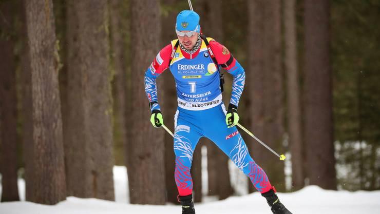 Unter Dopingverdacht und am zum Abschluss der WM in Antholz nicht mehr am Start: der russische Sprint-Weltmeister Alexander Loginow