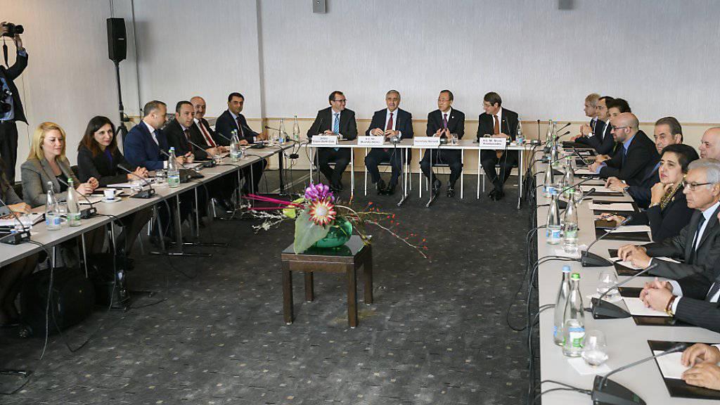 Die zyprischen Verhandlungsdelegationen sprechen auf dem waadtländischen Mont Pèlerin nun auch über Territorialfragen.