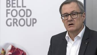 Der Fleischverarbeiter Bell will sich auf die Integration des Ostschweizer Nahrungsmittelherstellers Hügli konzentrieren, wie Bell-Chef Lorenz Wyss in einem Interview sagt. (Archiv)