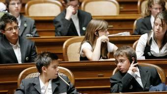 Bald gehört der Nationalratssaal wieder Jugendlichen (Symbolbild)