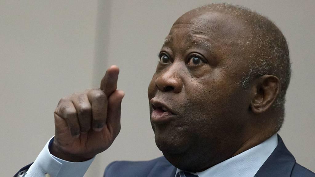 ARCHIV - Laurent Gbagbo, ehemaliger Präsident der Elfenbeinküste, im Gerichtssaal des Internationalen Strafgerichtshofs in Den Haag. Foto: Peter Dejong/AP POOL/dpa
