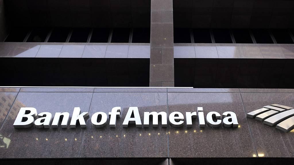 Der Gewinn der Bank of America ist um mehr als die Hälfte eingebrochen. (Archiv)