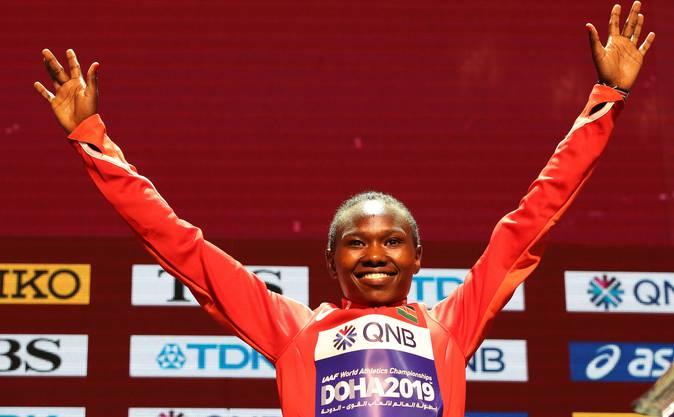 Die Siegerin: Ruth Chepngetich aus Kenia.