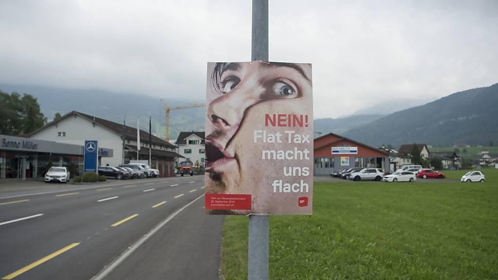 Für politische Kampagnen im Kanton Schwyz sollen künftig pro Jahr maximal 1000 Franken an anonymen Spenden fliessen dürfen. (Symbolbild)