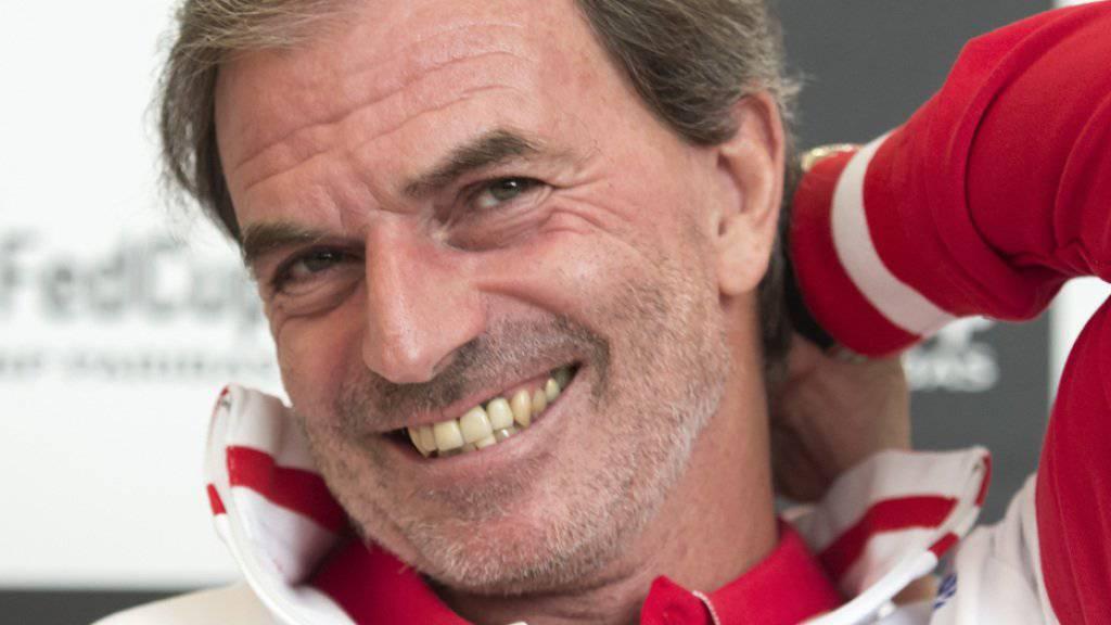 Er hat gut lachen: Der Schweizer Fedcup-Captain Heinz Günthardt hat seit Monaten viel Freude an den Schweizer Tennisfrauen