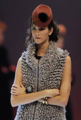 Das Model aus aus Hochwald läuft über den Laufsteg im Finale des Elite Model Look Wettbewerbes 2011