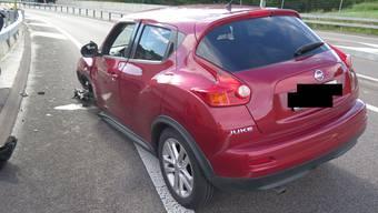 Der Wagen der Verunfallten blieb entgegen der Fahrtrichtung stehen.