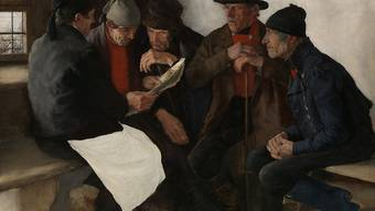 """Mit seinem Gemälde """"Die Dorfpolitiker"""" (1877) hat Wilhelm Leibl zwar die Kritiker an der Weltausstellung in Paris im Jahr 1878 vor den Kopf gestossen, aber dennoch einen durchschlagenden Erfolg verbucht."""