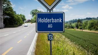 Ortseinfahrt von Holderbank