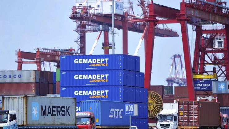 Trotz des Handelsstreits ist der Warenexport von China in die USA stark gestiegen. (Archiv)