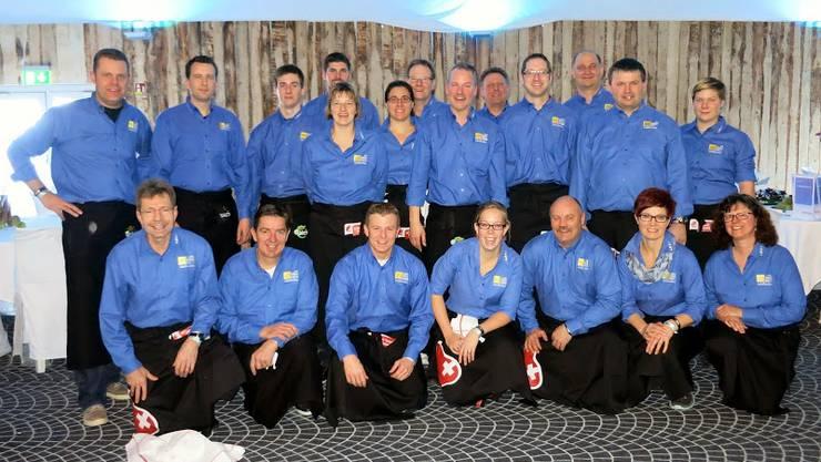 Die MG Messen als Serviceteam im VIP-Zelt am Weltcup Adelboden