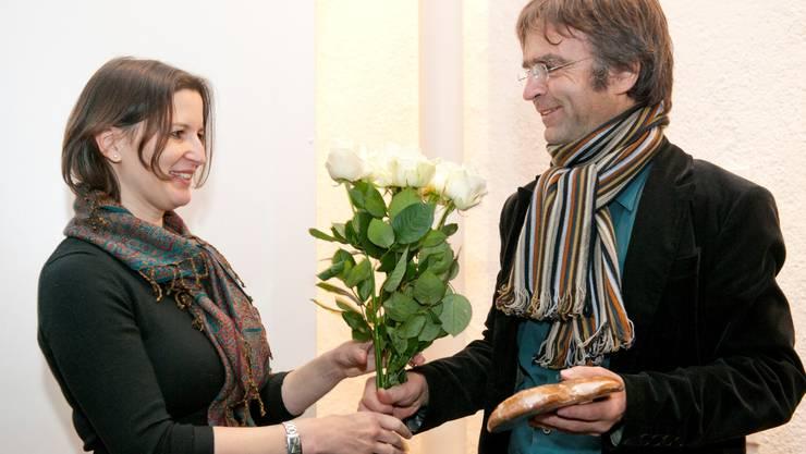 Galeristin Evelin Bernasconi, Stiftungsrat Stephan Kunz.