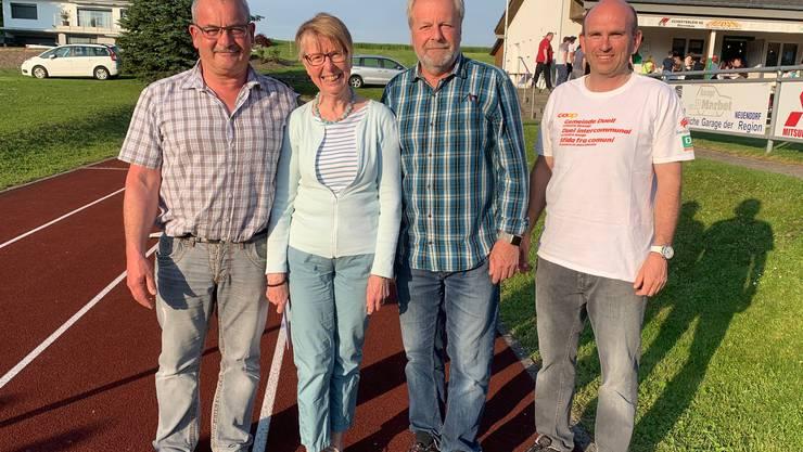 Von links nach rechts: Hansruedi von Arx, Marie-Louise Flury, Franz Jäggi sowie vom Organisator, Andre Grolimund