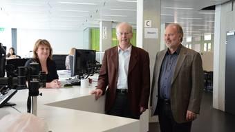 Stadtpräsident Toni Brühlmann-Jecklin und Geschäftsleiter Martin Studer im Stadtbüro.