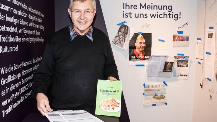 Leiter René Hänggi freut sich über jede Unterschrift, die das Vindonissa-Museum für die Petition zugunsten des Röstigrabens sammeln kann. Jiri Reiner