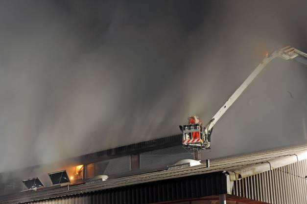 Brand der Chliriethalle