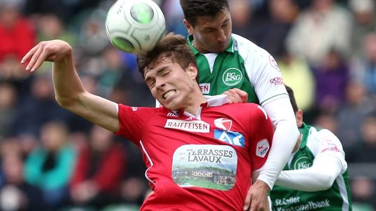 Milan Vilotic (oben) ist in der Innenverteidigung von St. Gallen ein fester Wert