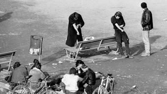 Blick in die Vergangenheit - Drogenszene 1990 am Zürcher Platzspitz