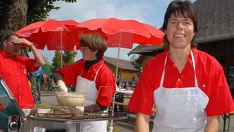 Auch am slowUp im Emmental, hier im Jahr 2009, kommt das Kulinarische nicht zu kurz. Armin Leuenberger