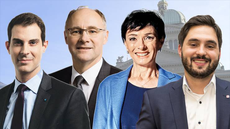 So würden die Aargauer gemäss Online-Umfrage wählen; alle Kandidaten finden Sie in der Bildergalerie.