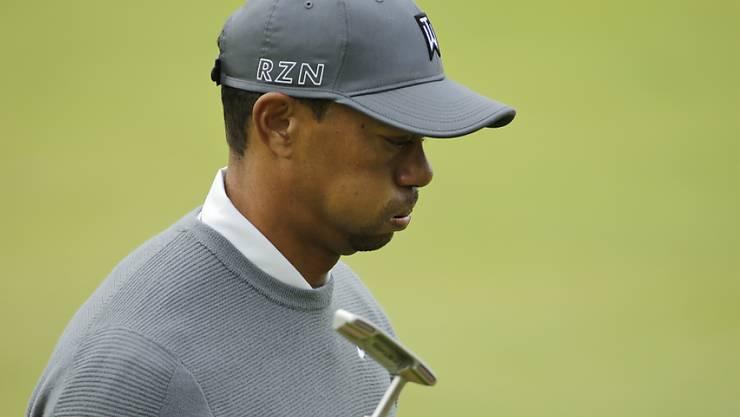 Tiger Woods bleibt auch am British Open dem Verzweifeln nahe