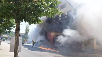 Fahrzeugbrand in Niedergösgen