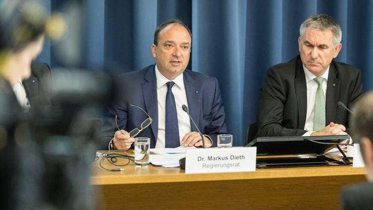 Finanzdirektor Markus Dieth (CVP) im Fokus.