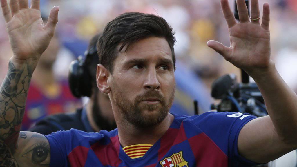 Lionel Messi könnte bei Barcelona nach einer Verletzungspause bereits am Wochenende wieder auf dem Platz stehen