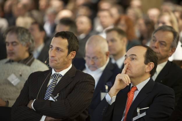Christoph Tonini, Vorsitzender der Unternehmensleitung Tamedia und Pietro Supino, Vizepräsident Verband Schweizer Medien.