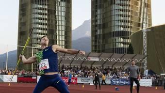 Thomas Röhler nimmt in Luzern Anlauf für seinen Wurf zum Sieg