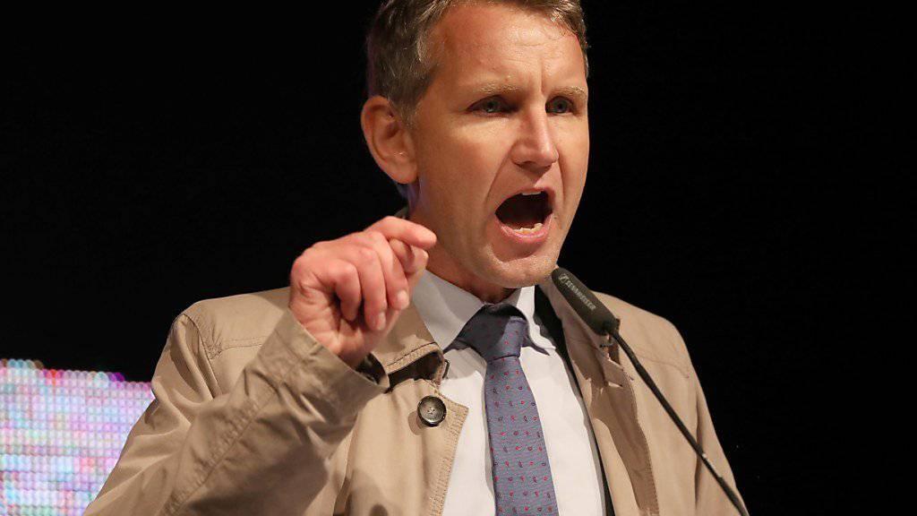 Die Staatsanwaltschaft Chemnitz leitet gegen den Thüringer AfD-Franktionschef Björn Höcke ein Ermittlungsverfahren ein. (Archiv)