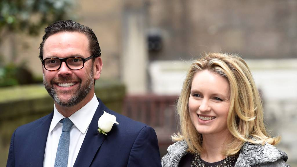 Rupert Murdochs Sohn James mit seiner Frau Kathryn Hufschmid.