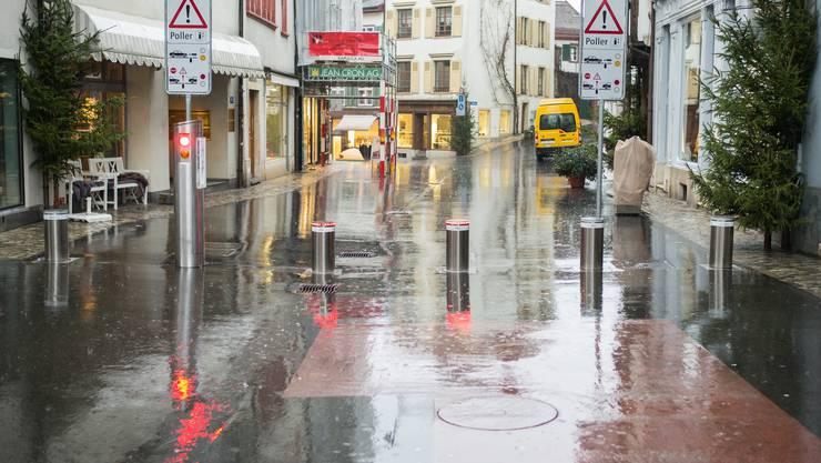 Der Poller-Pilotversuch am Spalenberg ist am Montag angelaufen.