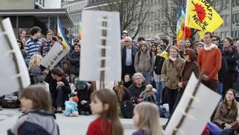 Protest gegen Atomkraftwerke in Bern