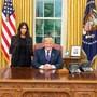 Reality-TV-Star Kim Kardashian bei ihrem Besuch bei US-Präsident Donald Trump im Weissen Haus. (Archivbild)